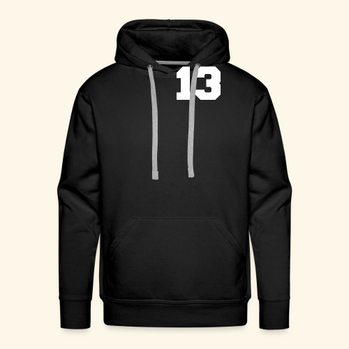 13 white - Männer Premium Hoodie
