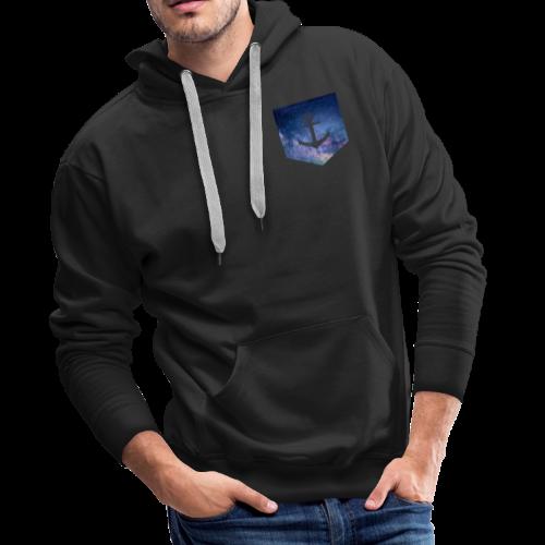 Brusttasche Galaxie Anker - Männer Premium Hoodie