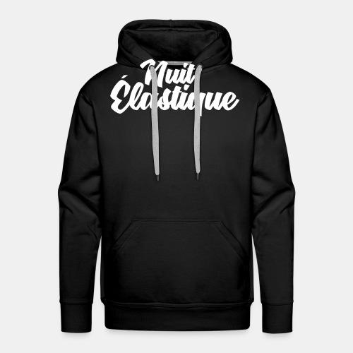 Logo Nuit Élastique - Sweat-shirt à capuche Premium pour hommes