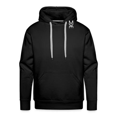 White Logo - Bluza męska Premium z kapturem