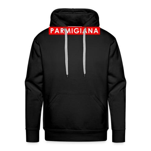 Parmigiana Style Red - Felpa con cappuccio premium da uomo