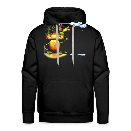 Robot with his plant friends - Mannen Premium hoodie
