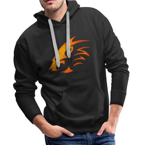 Rian The Lion Orange Logo - Premiumluvtröja herr