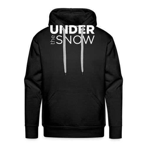 Logo Under The Snow White - Felpa con cappuccio premium da uomo