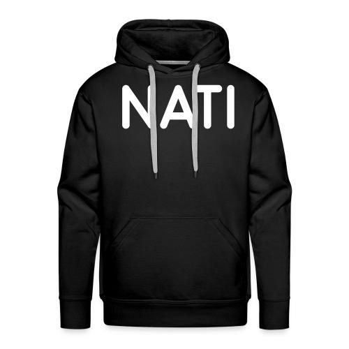 NATI Original - Hvid - Herre Premium hættetrøje