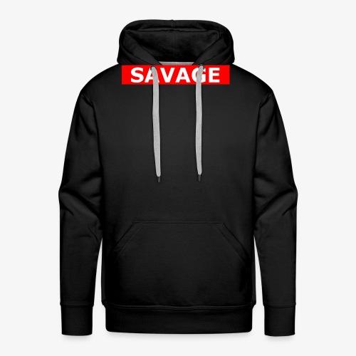 Savage Boxlogo - Männer Premium Hoodie