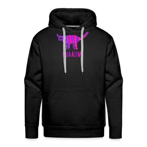 miaauw, paarse poes - Mannen Premium hoodie