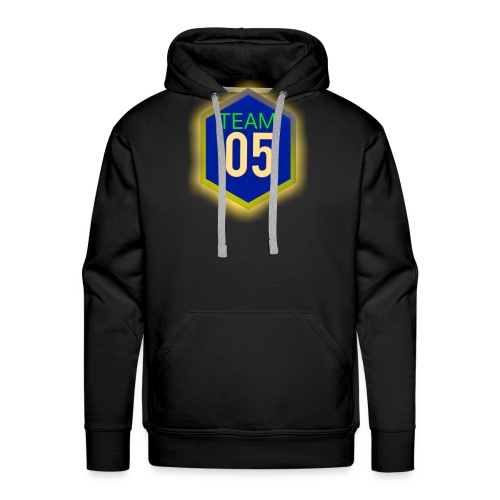 Gult lysene team05 logo - Herre Premium hættetrøje