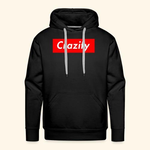 Crazify Red & White - Men's Premium Hoodie