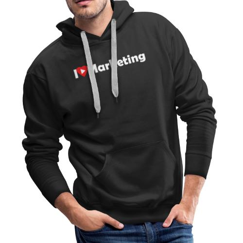 I love marketing - Sweat-shirt à capuche Premium pour hommes