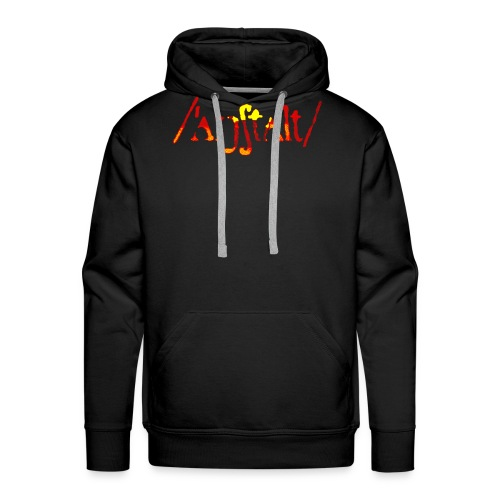 logo gerastert (flamme) - Männer Premium Hoodie
