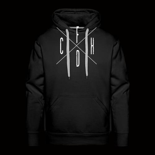 FCHD LOGO (WEIß) - Männer Premium Hoodie