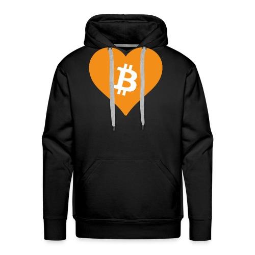 Bitcoin Heart - Mannen Premium hoodie