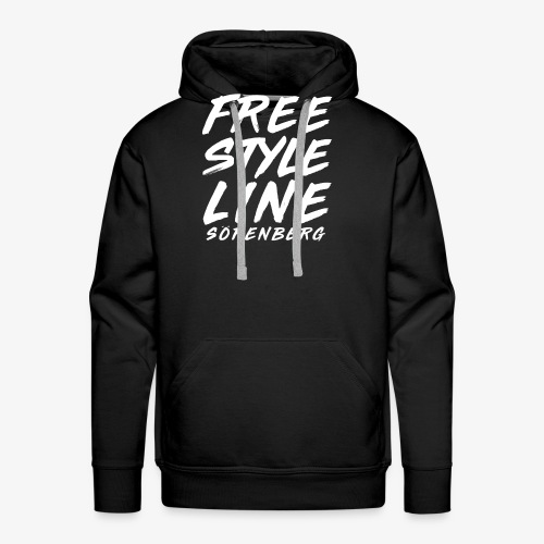 line brush white - Männer Premium Hoodie