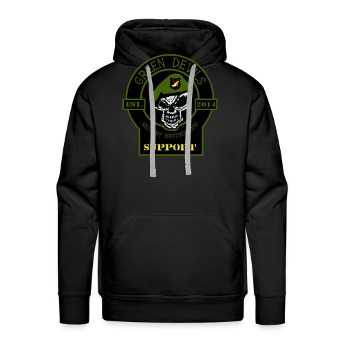 2019 Green Devils Military Brotherhood Support - Männer Premium Hoodie