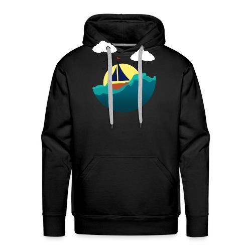 Sejlbåd - Herre Premium hættetrøje
