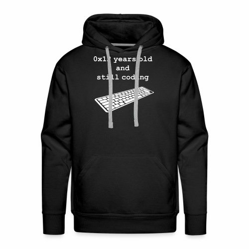 18th birthday: 0x12 years old and still coding - Men's Premium Hoodie