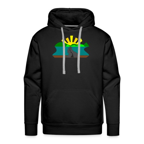 land - Sudadera con capucha premium para hombre