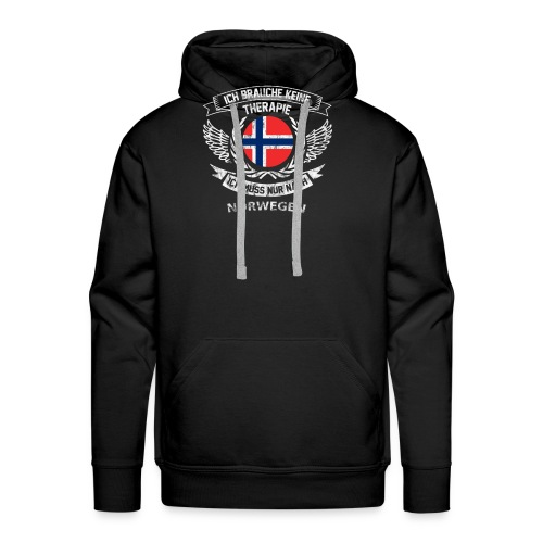 norwegen therapie t shirt retro dfd - Männer Premium Hoodie