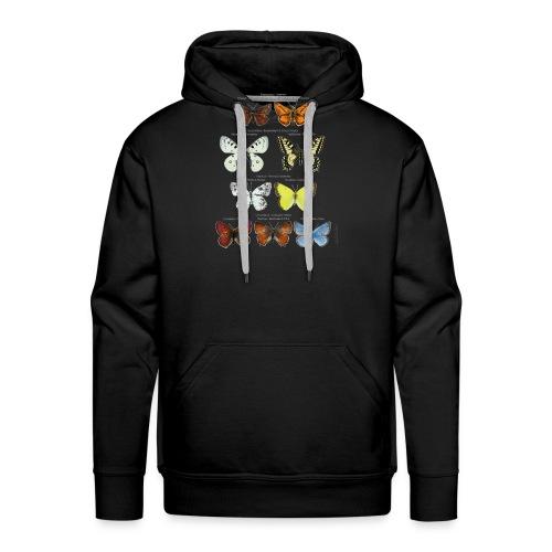 Mariposas clasificación zoología - Sudadera con capucha premium para hombre