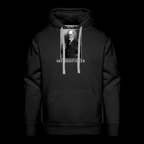 Sigmund Freud MEME - Sweat-shirt à capuche Premium pour hommes