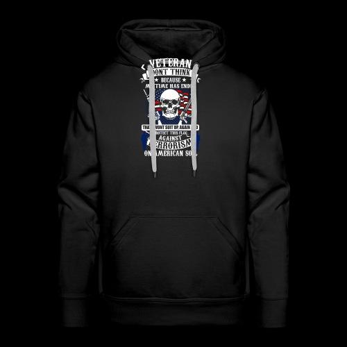 Veteran soldier terror terrorism skull army usa us - Männer Premium Hoodie