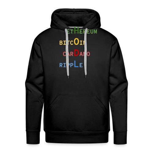 HODL color - Sweat-shirt à capuche Premium pour hommes