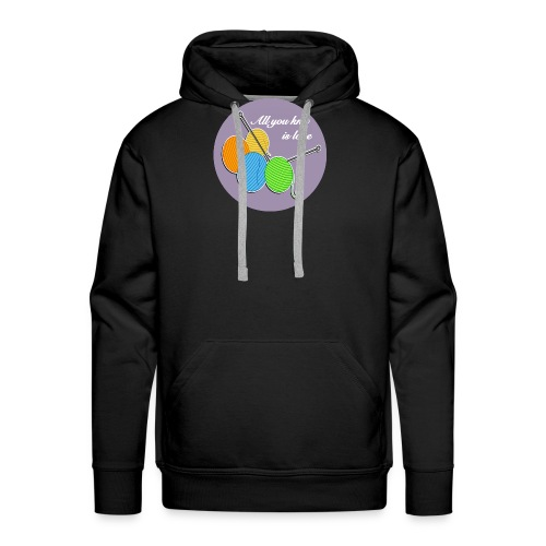 All you knit is love - Männer Premium Hoodie