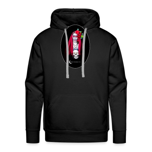 Catrina Noctografia Medallón - Sudadera con capucha premium para hombre