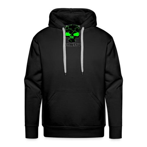 shaketv verde scritta sotto contorno bianco 3 - Felpa con cappuccio premium da uomo