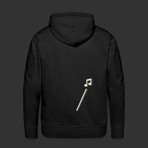 scheet muzieknoot - Mannen Premium hoodie