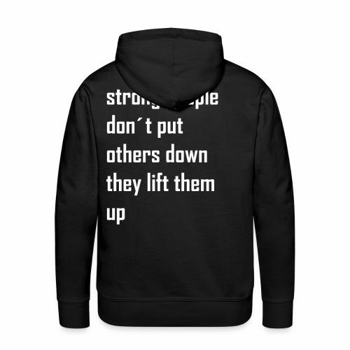 strong people - Mannen Premium hoodie