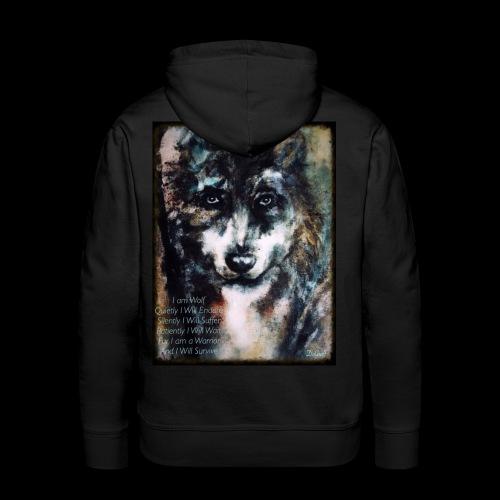 wolf - Mannen Premium hoodie