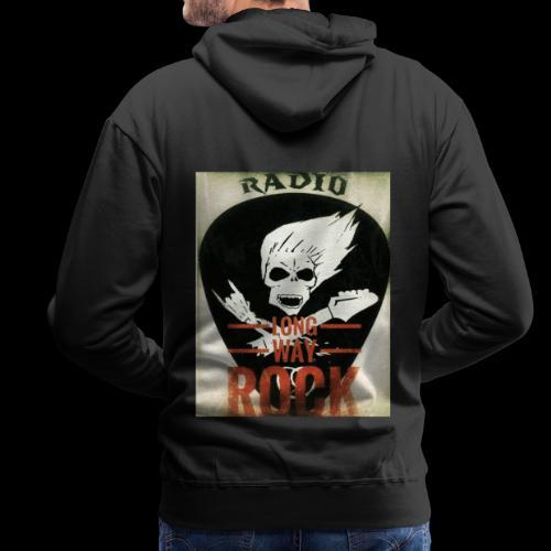 Radio Long Way Rock - Sweat-shirt à capuche Premium pour hommes