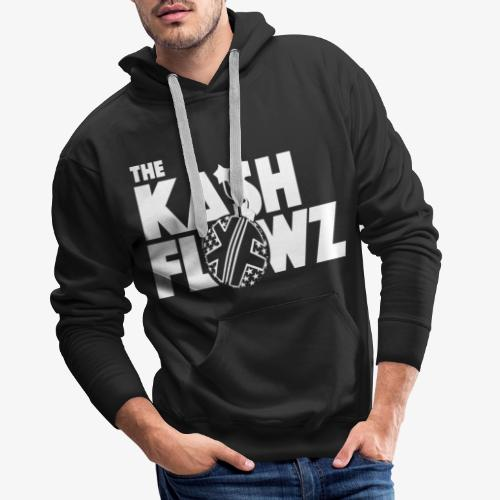The Kash Flowz Official Bomb White - Sweat-shirt à capuche Premium pour hommes