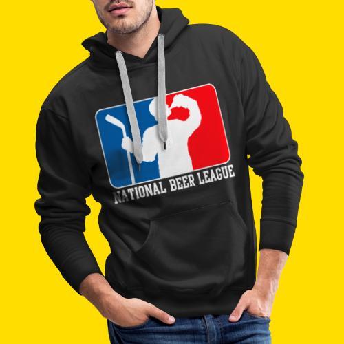National Beer leauge - Eishockey Fun Shirt - Männer Premium Hoodie