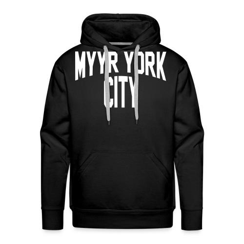 MYYR YORK CITY WHITE - Miesten premium-huppari