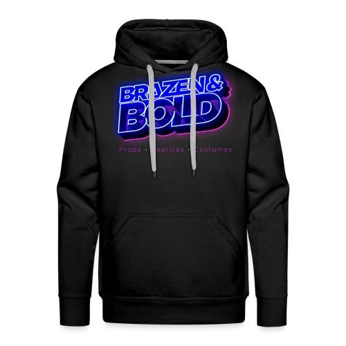 Brazen & Bold Productions Neon Logo - Men's Premium Hoodie