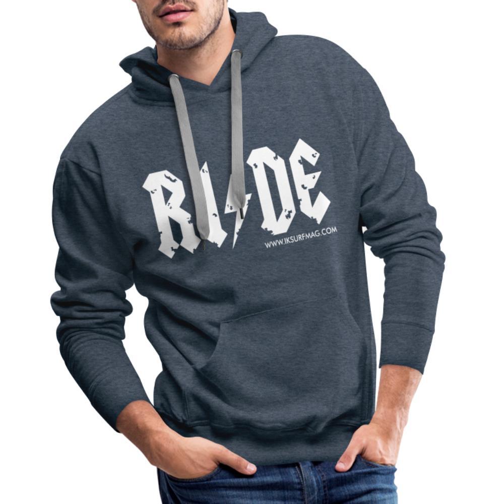 RIDE - Men's Premium Hoodie - heather denim