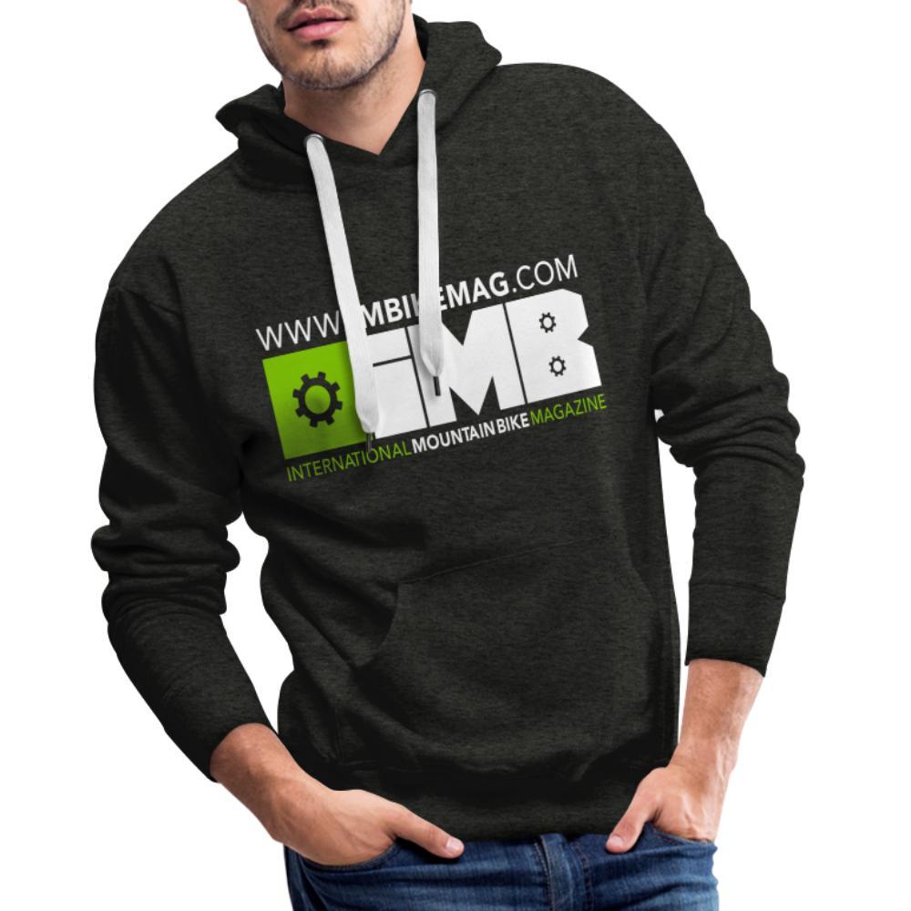 IMB Logo - Men's Premium Hoodie - charcoal grey