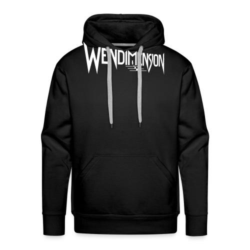 wendimension logo white - Miesten premium-huppari