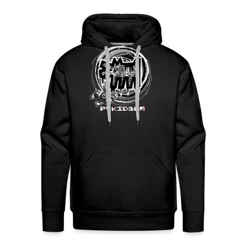 p4kid3rm black and white - Felpa con cappuccio premium da uomo