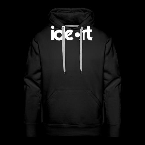 ideart Hvid Logo print - Herre Premium hættetrøje