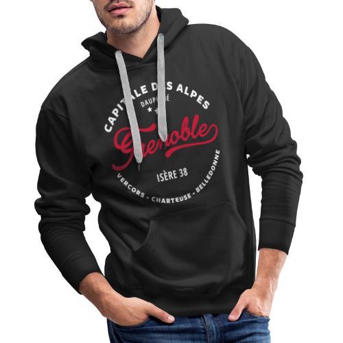 grenoble capitale des alpes - Sweat-shirt à capuche Premium pour hommes