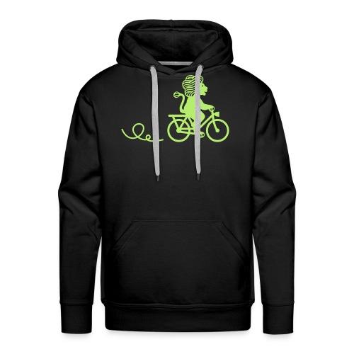 Züri-Leu beim Velofahren ohne Text - Männer Premium Hoodie