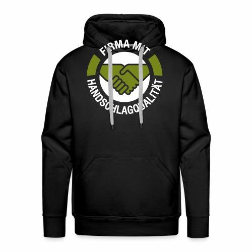 Handschlagqualität Logo weiss - Männer Premium Hoodie