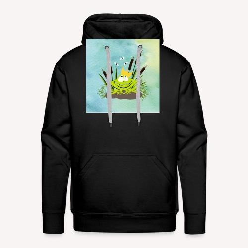 frog king watercolor - Männer Premium Hoodie