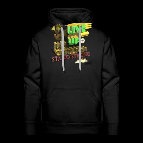 live up JAH children (Kansidah 3D) - Männer Premium Hoodie