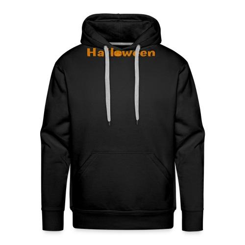 Halloween mit o als Kürbis - Männer Premium Hoodie