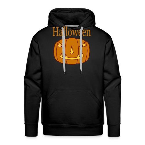 Halloween Kürbis mit Gruselmaske - Männer Premium Hoodie